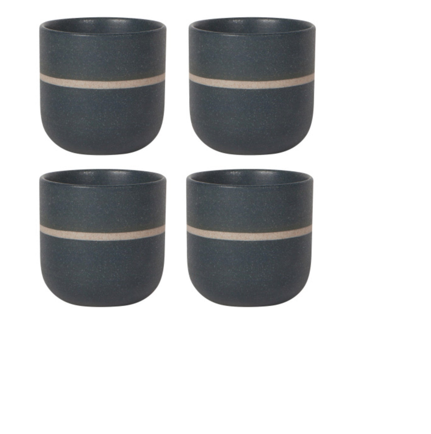 Tea Oup set Orb Navy Stripe