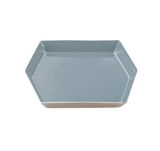 Hexagonal Enamel Tray - Charcoal