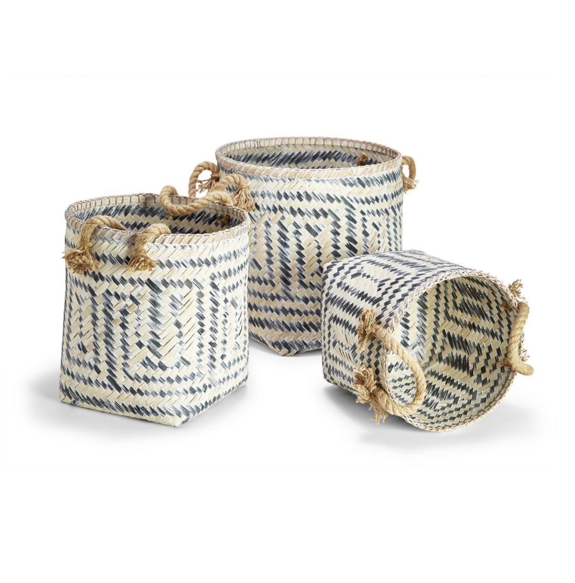 Perivilos Hand-Crafted Baskets with Jute Rope