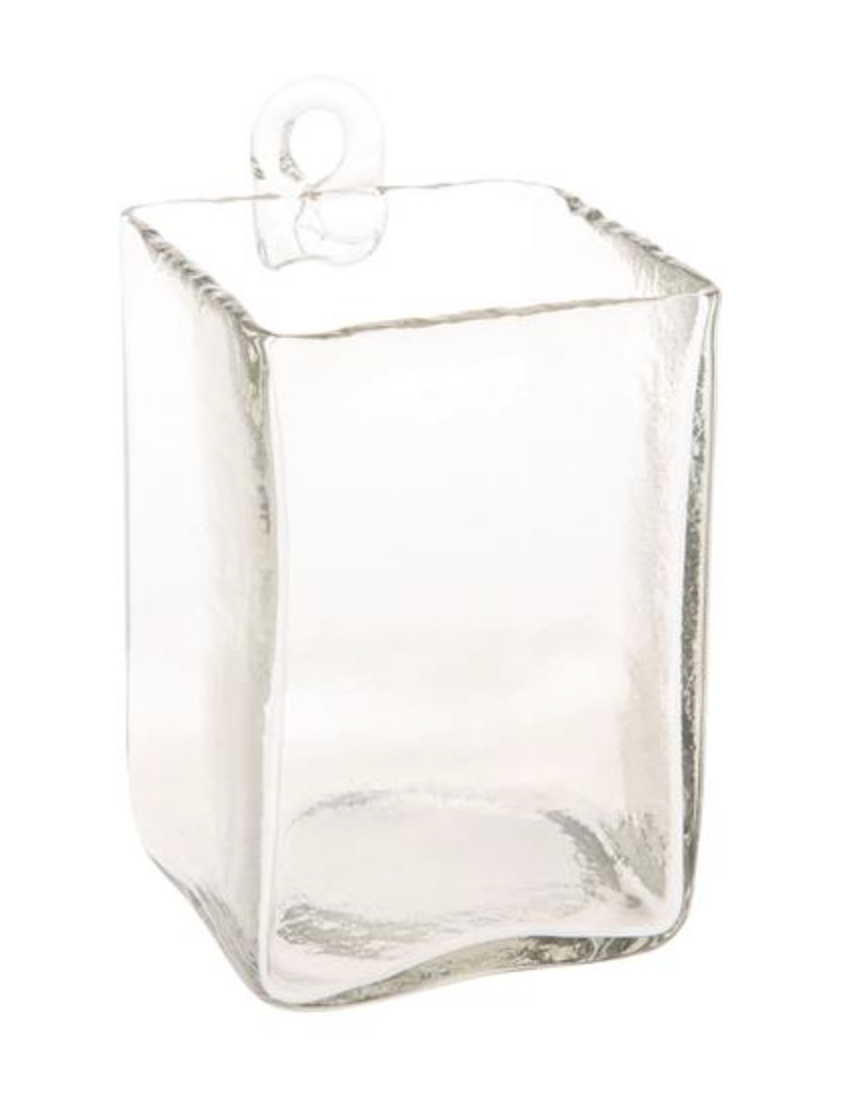 Hand-Blown Hanging Glass Vase