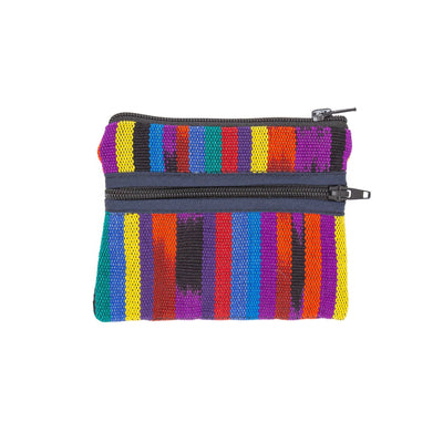 Guatemalan 3-Zip Coin Purse Bright Colors ?id=13943704453173