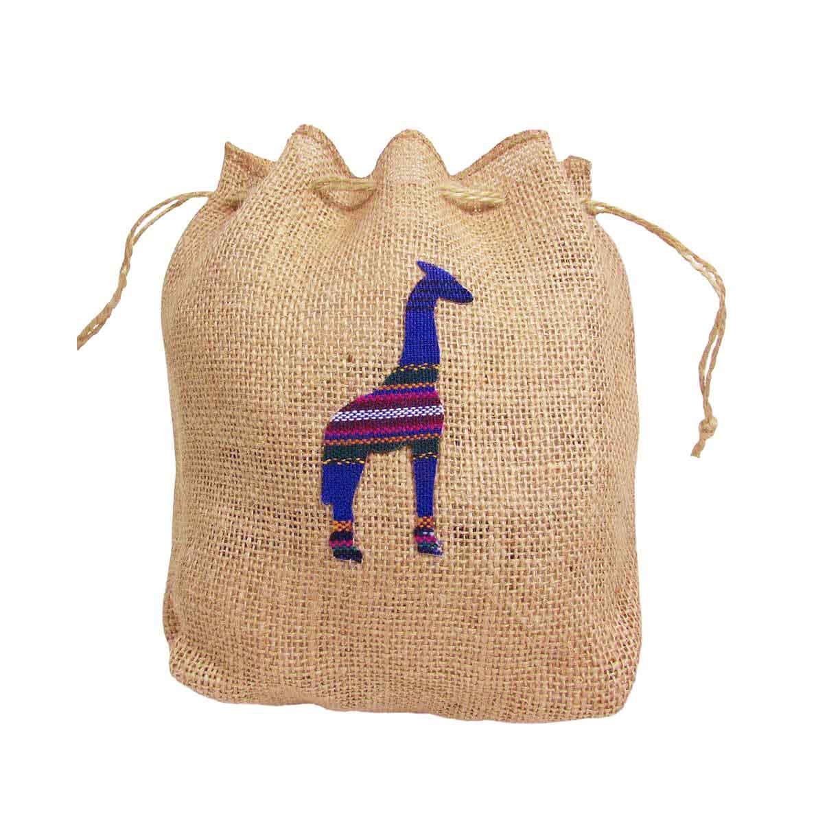Giraffe Hemp Drawstring Bag ?id=14050955558965