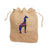 Giraffe Hemp Drawstring Bag