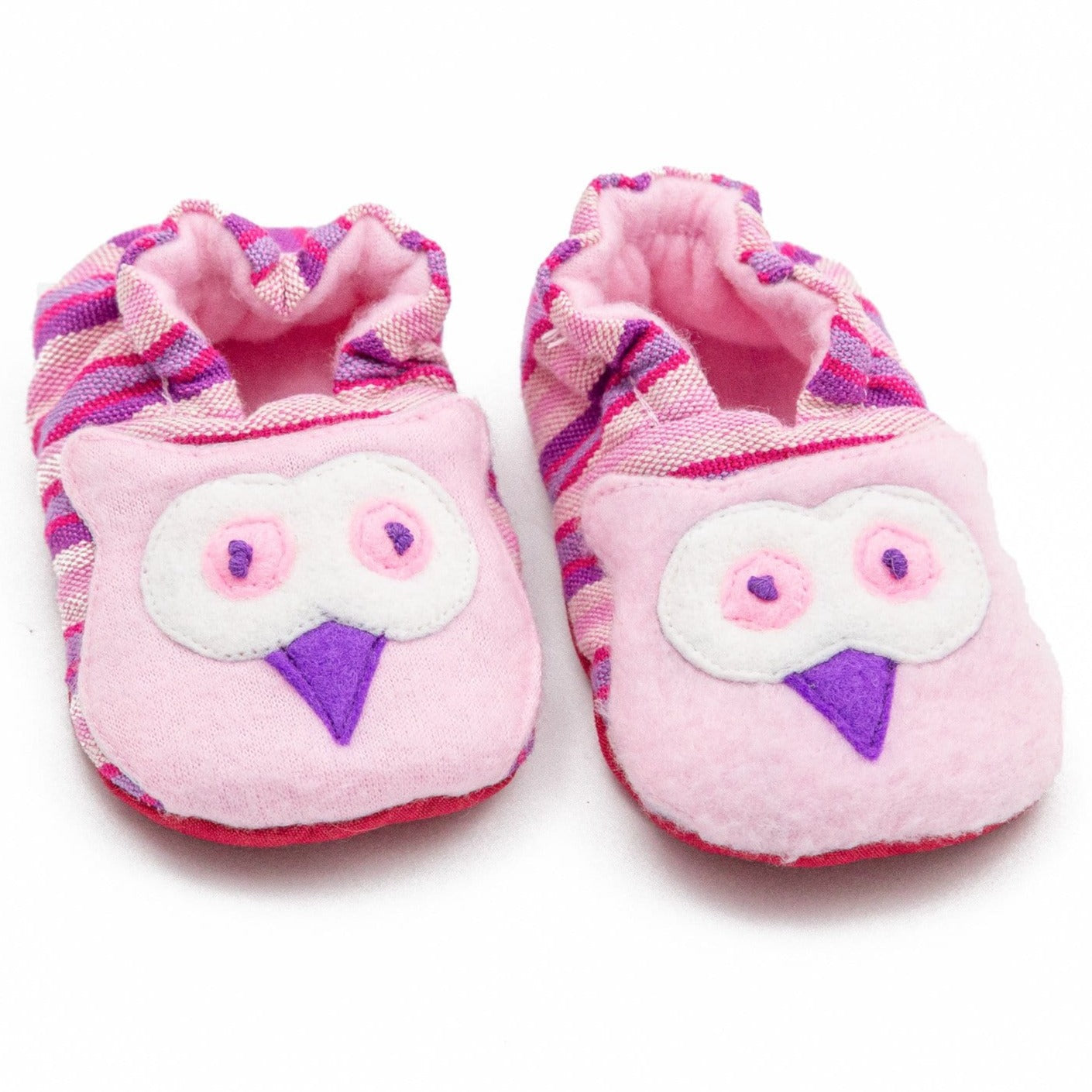 Fair Trade Owl Baby Booties Pink ?id=13944274255925