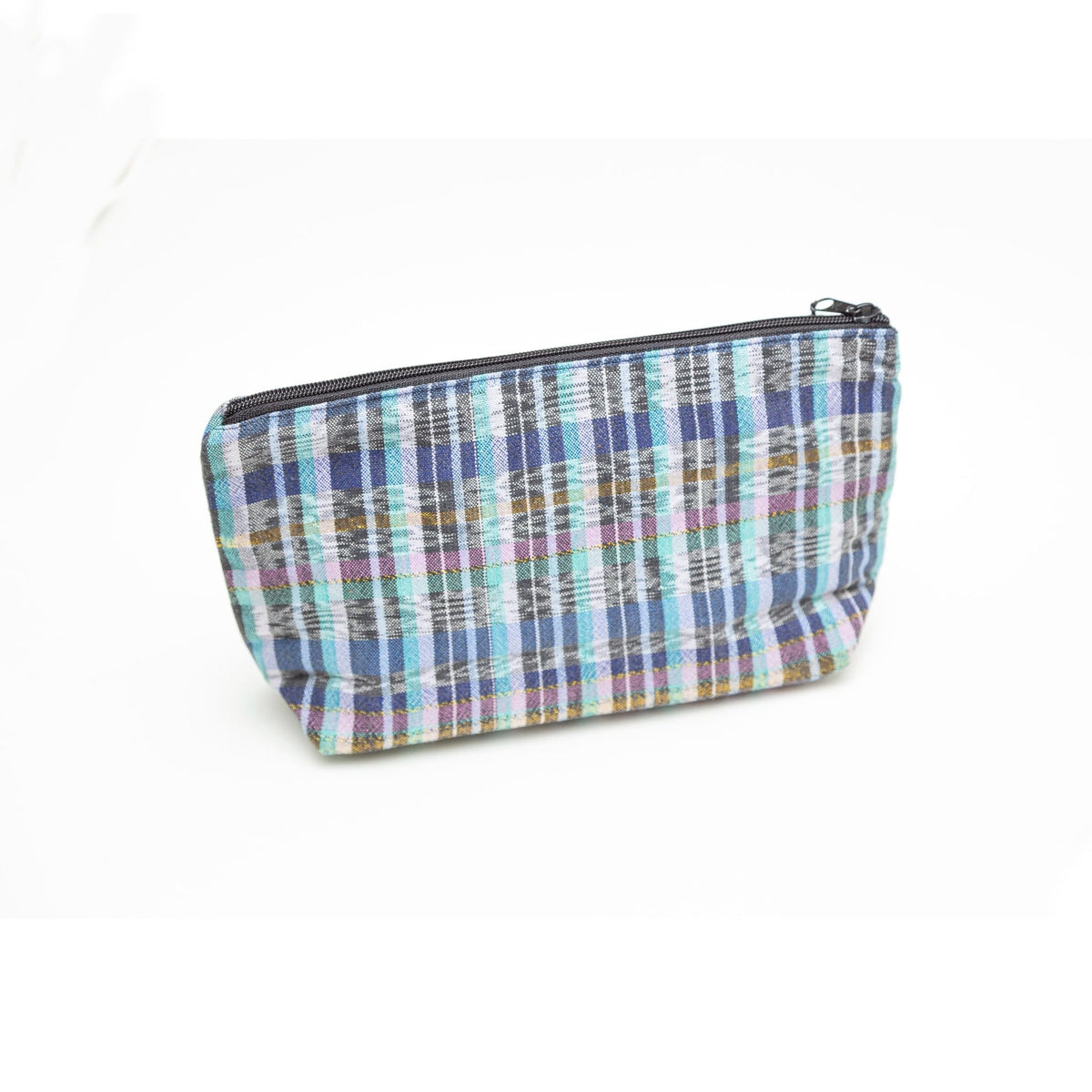 Plastic-Lined Cosmetic Travel Bag