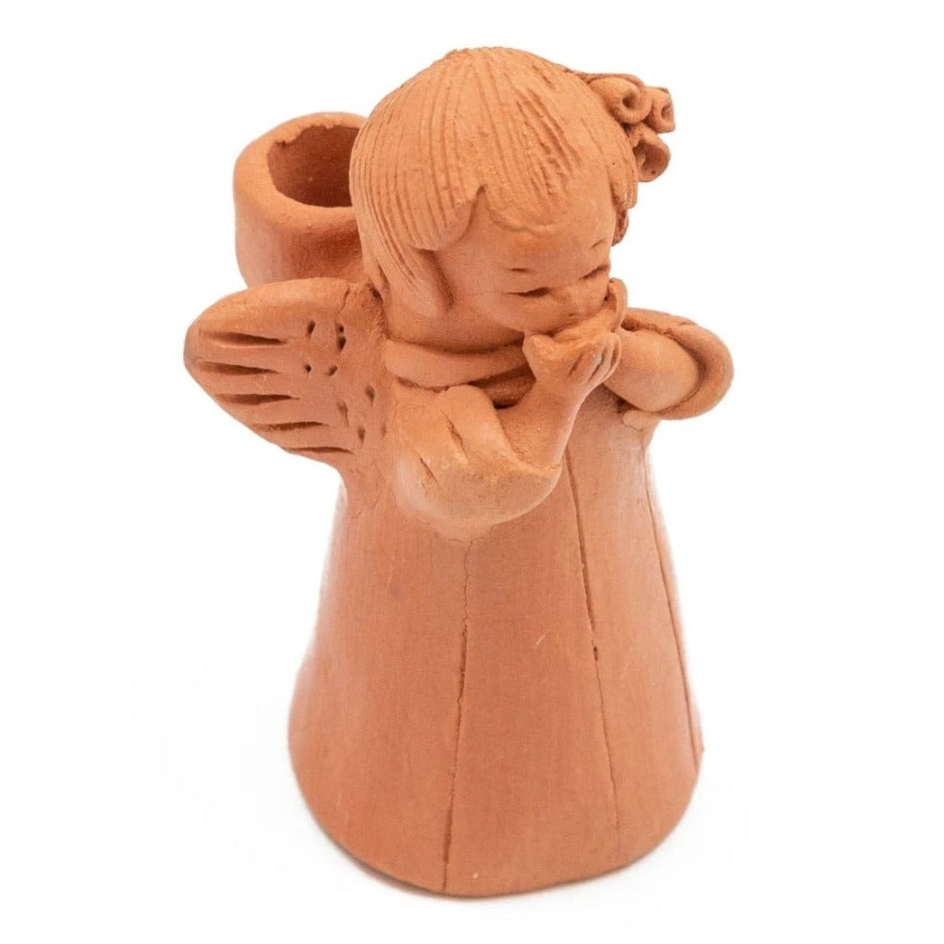 Fair Trade Angel Terracotta Candleholder