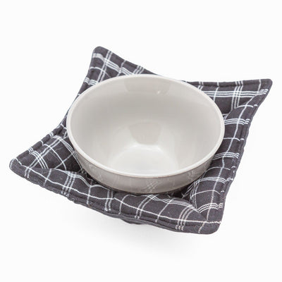 Microwave Cozy - Black Plaid