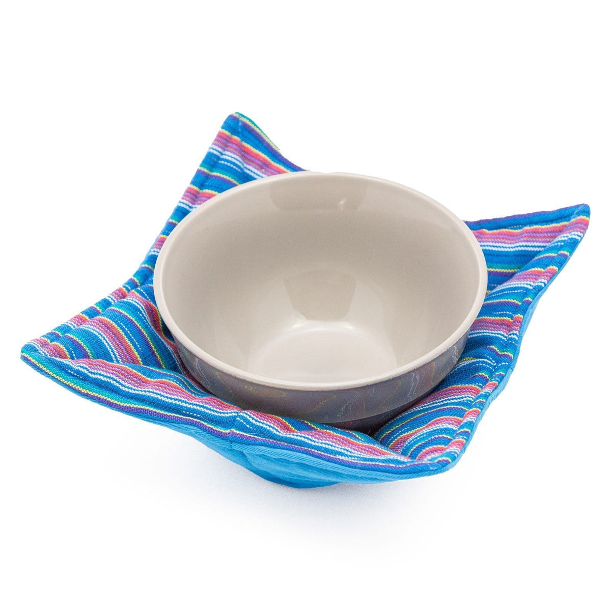 Microwave Cozy - Blue Rainbow