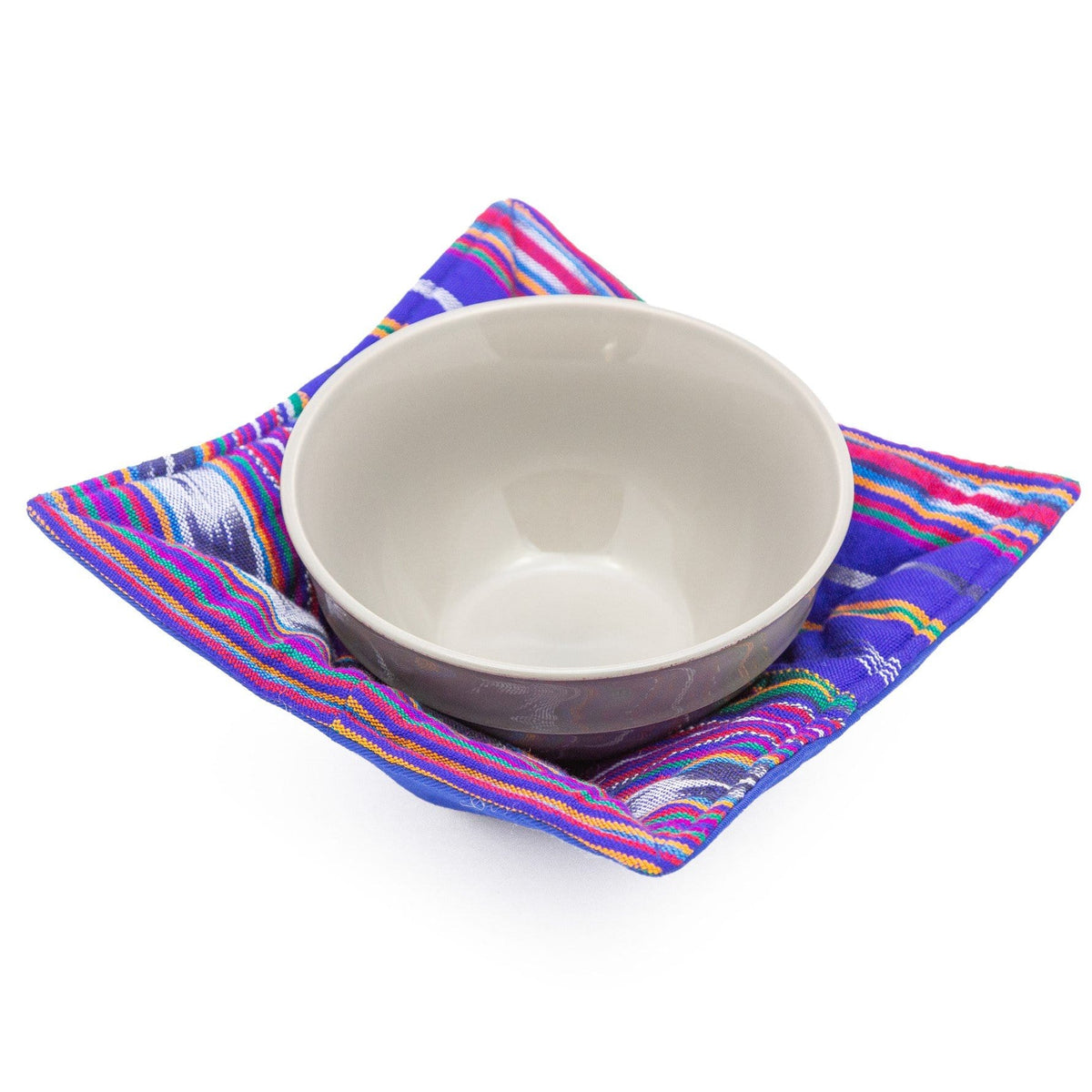 Microwave Bowl Cozy - Festive Blue