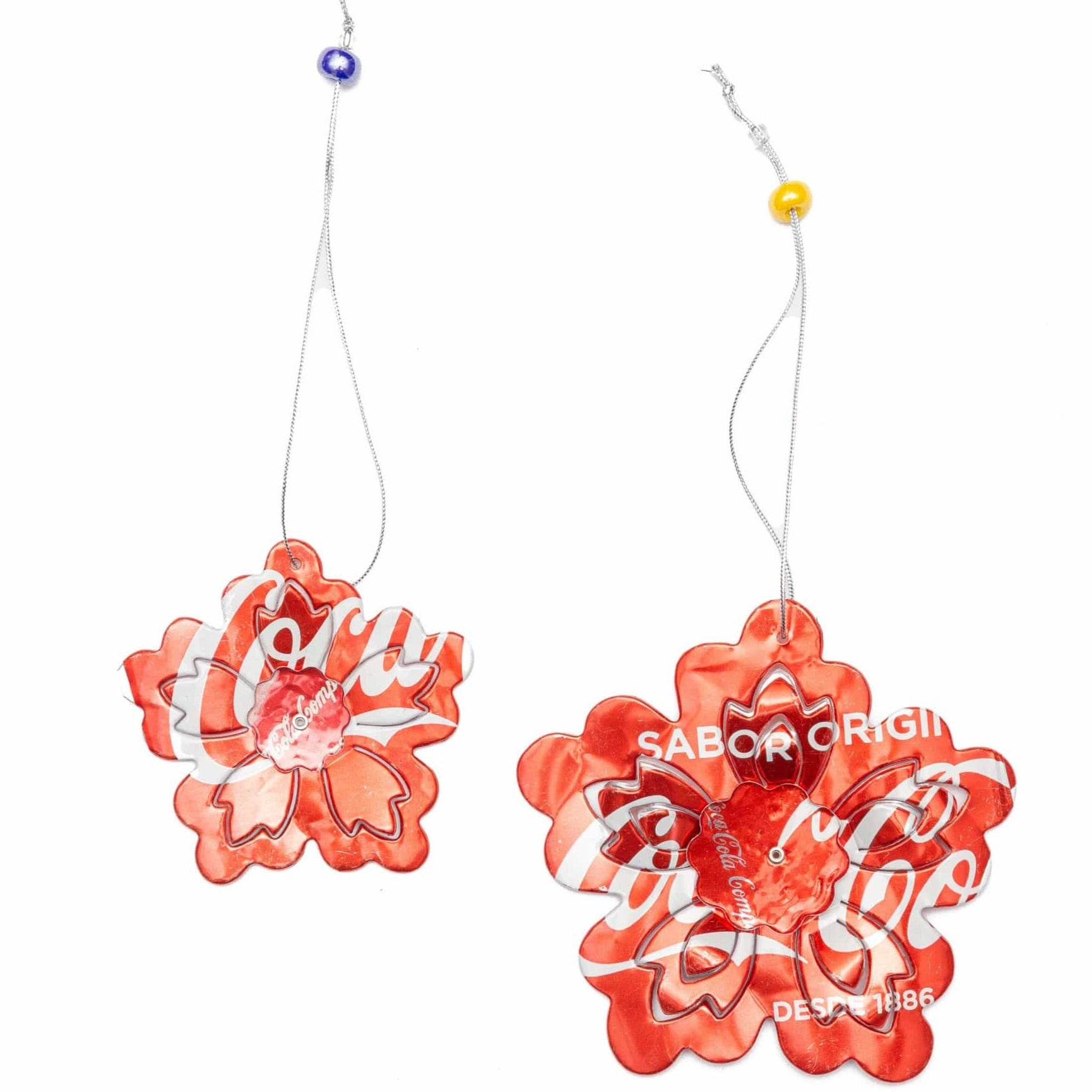 Recycled 3D Flower Set Ornament