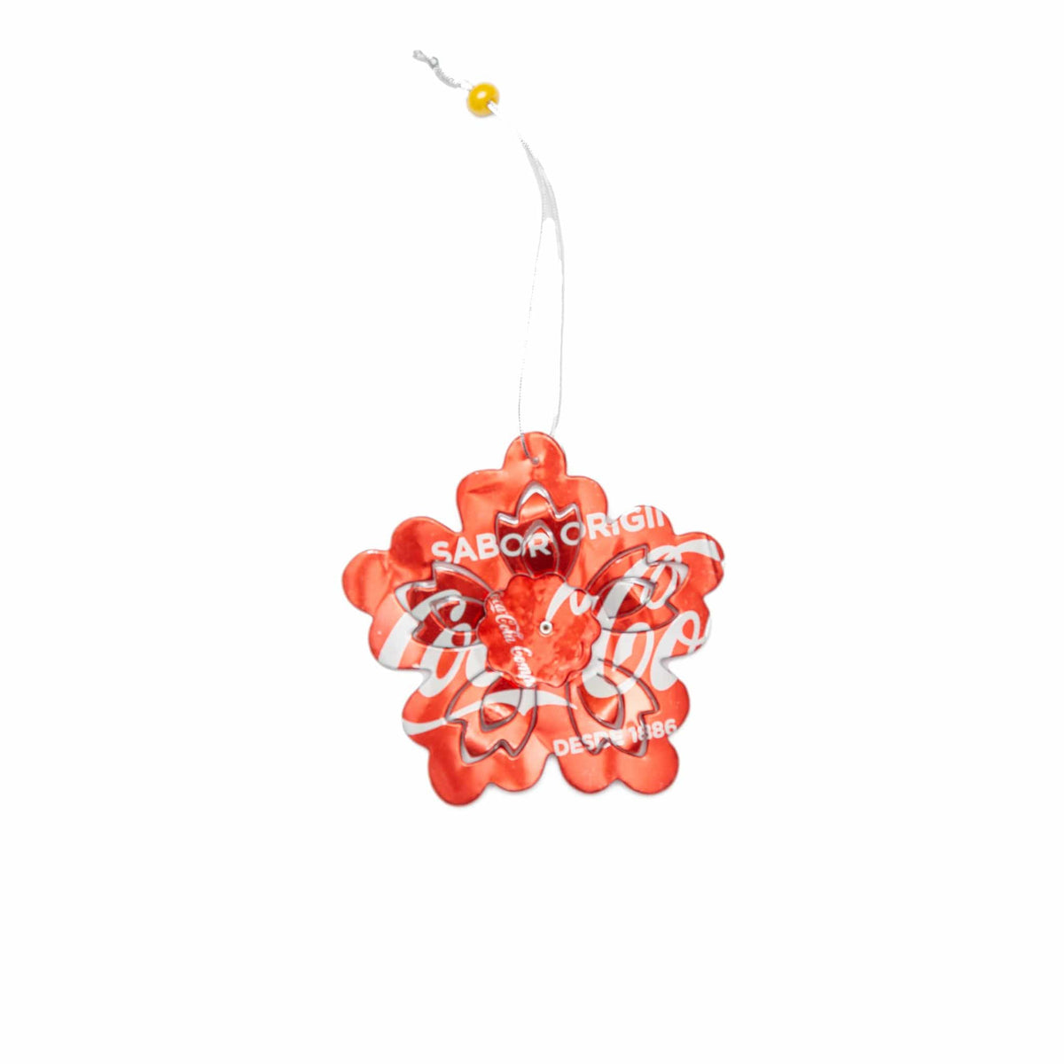 Recycled 3D Flower Ornament -Set of 2