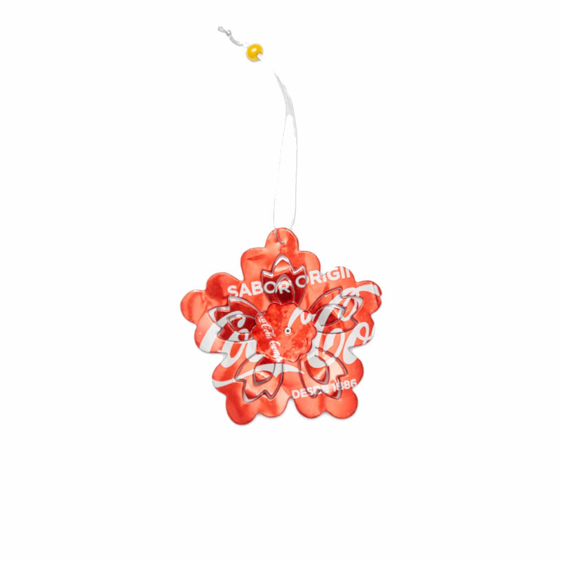 Recycled 3D Flower Ornament - Set of 2