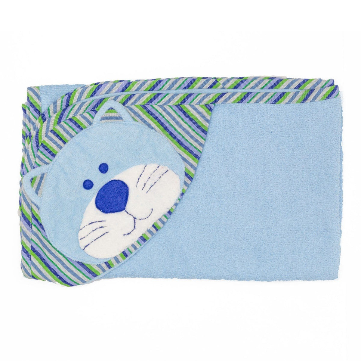 Cat Hooded Towel - Blue ?id=14022275301429