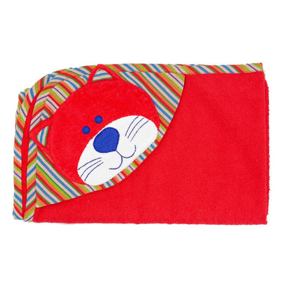 Cat Hooded Towel - Red