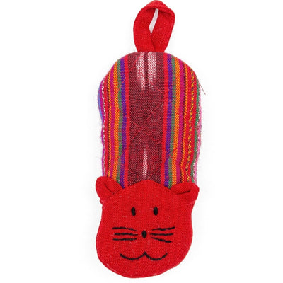 Fair Trade Cat Skillet Handle Holder Red