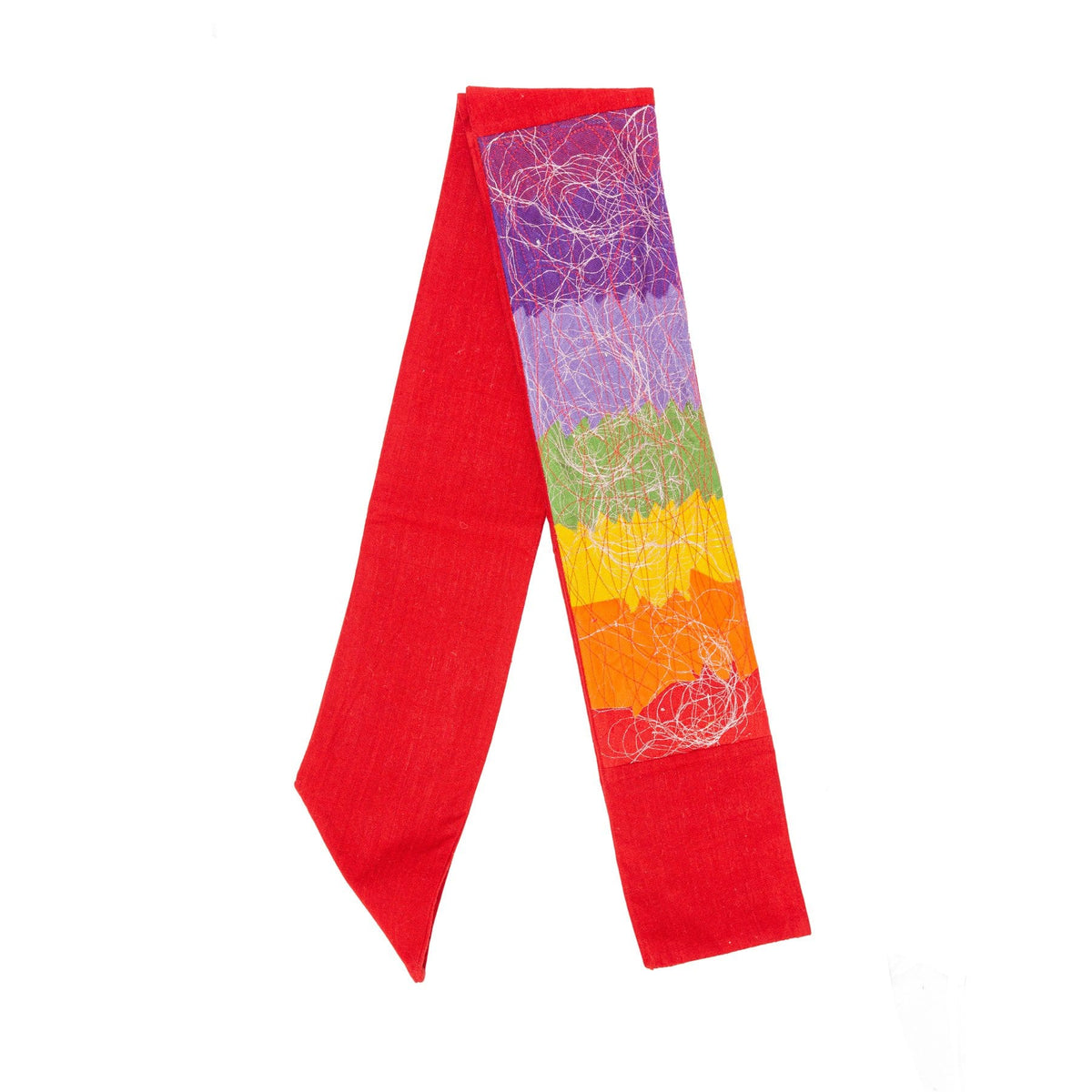 Contemporary Red Rainbow Stole ?id=14023148699701