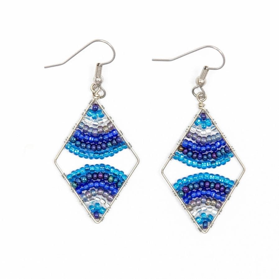 Fair Trade Diamond Wire Bead Earrings