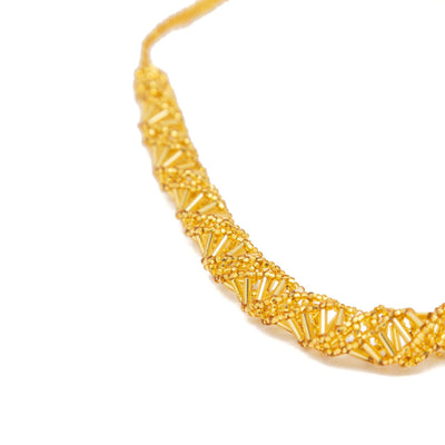 Guatemalan Double Helix Necklace Gold 2