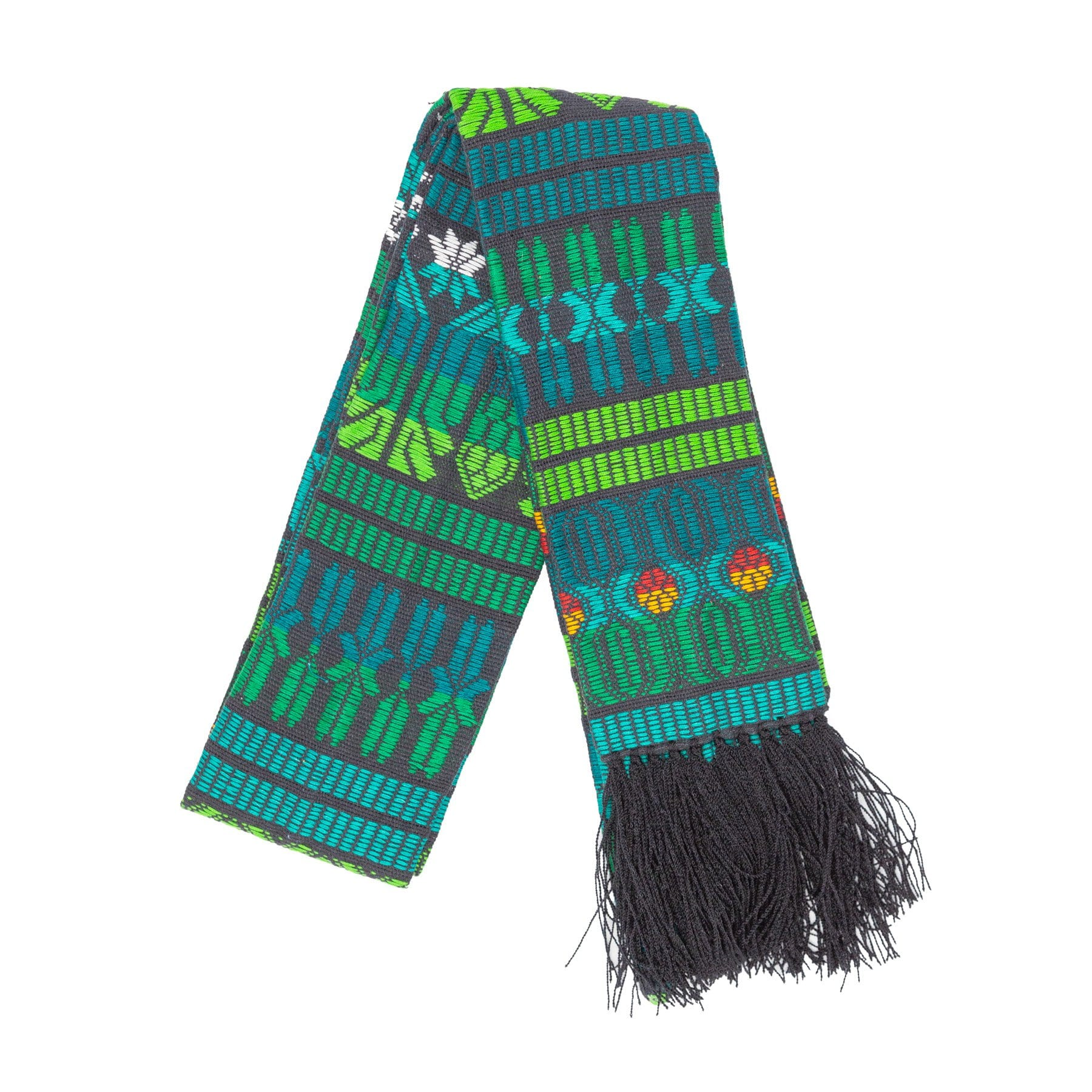 Fair Trade Green Brocaded Clerical Stole