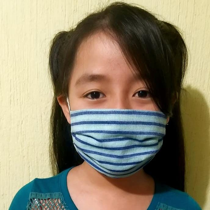 Kids Pleated Face Masks - 3/6 yrs old