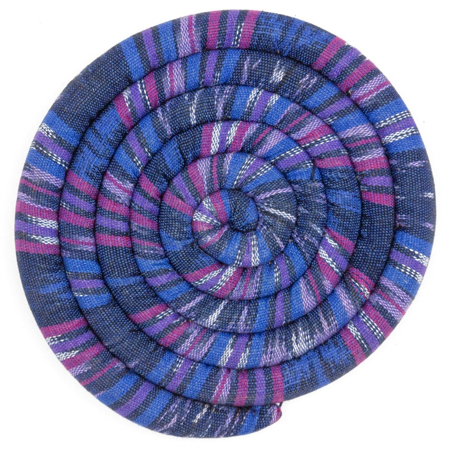 Fair Trade Large Spiral Spiced Trivet Bright