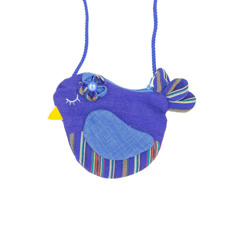 Fair Trade Birdie Purse Turquoise