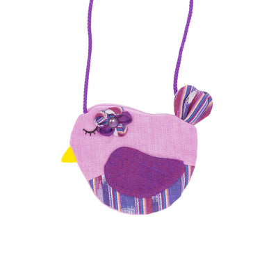 Fair Trade Birdie Purse Purple ?id=14031161196597