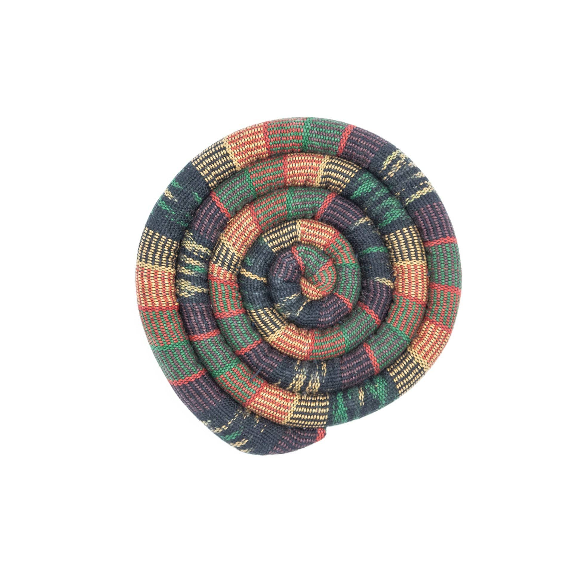 Fair Trade Medium Spiral Spiced Trivet Earth Tone