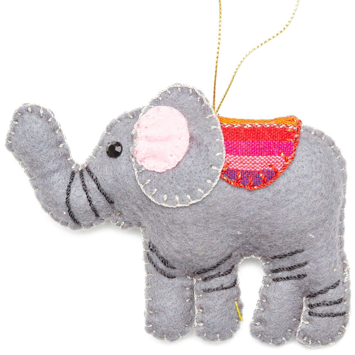 Felt Elephant Ornament