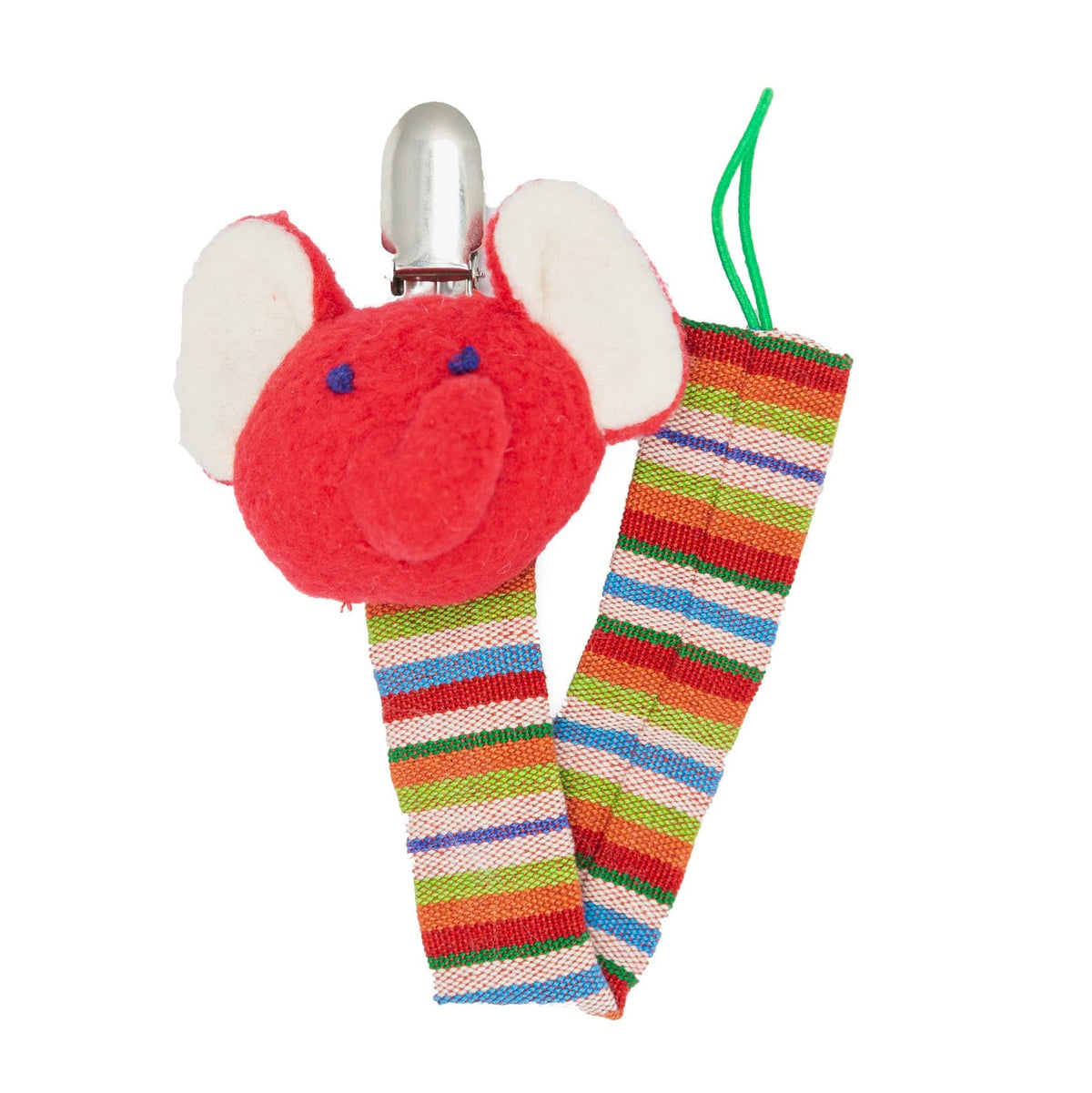Elephant Pacifier Clip - Red