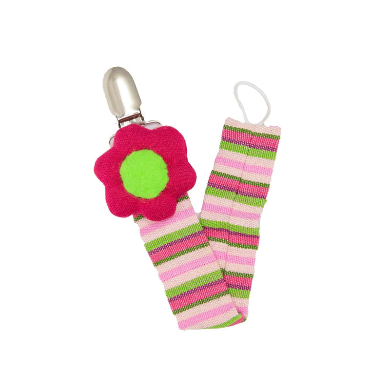 Flower Pacifier Clip - Red ?id=14022470533173