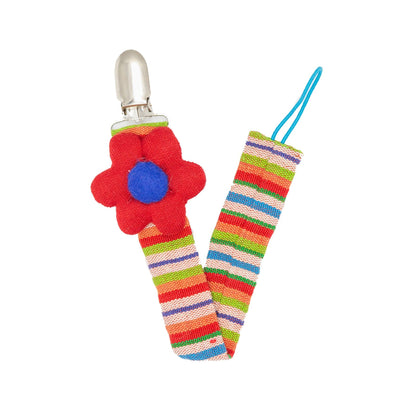 Flower Pacifier Clip - Red