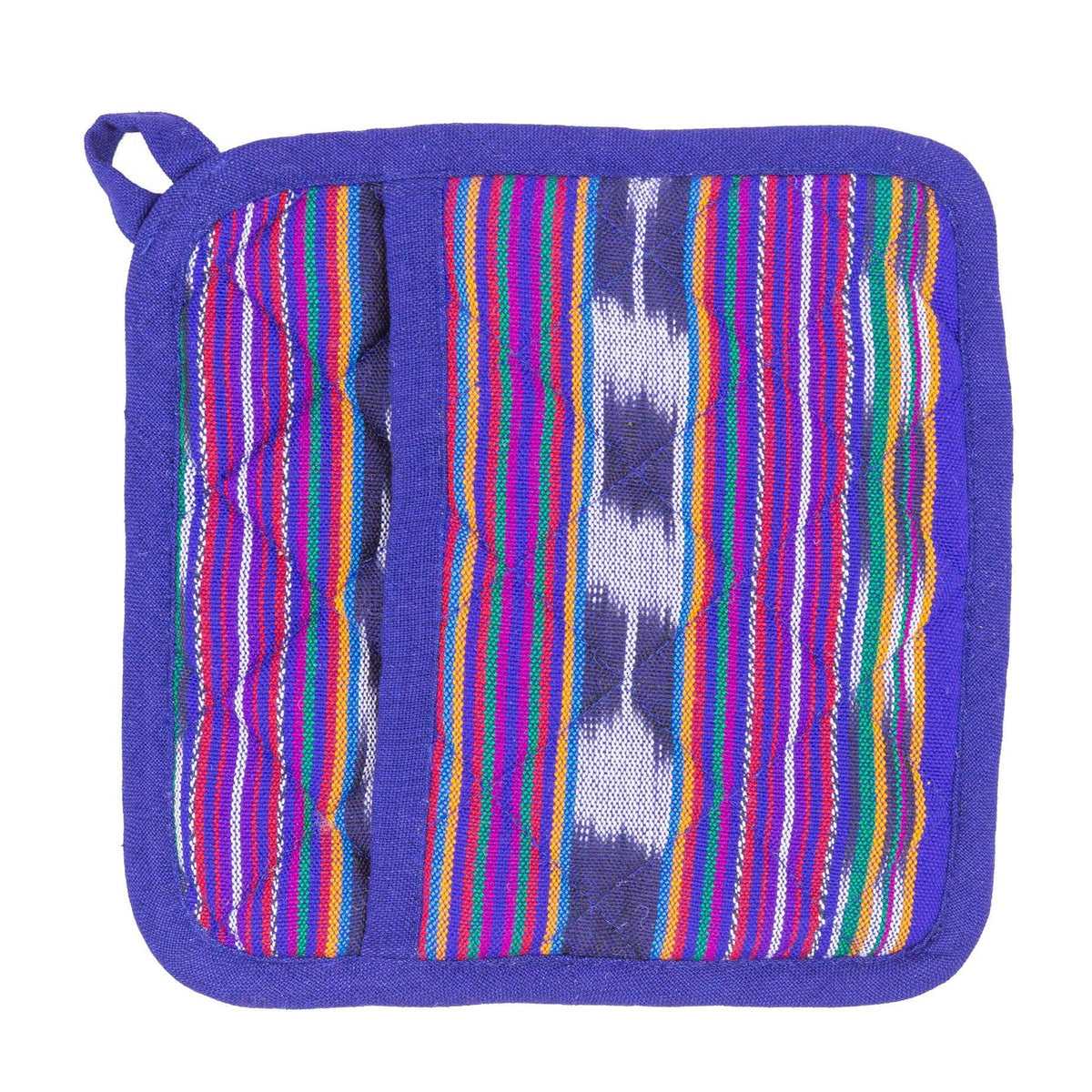 Pocket Pot Holder - Festive Blue