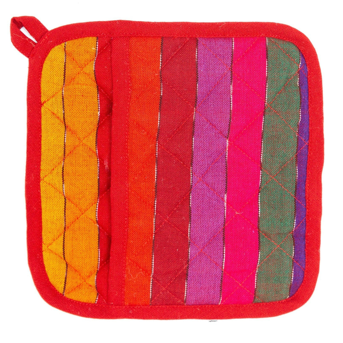Rainbow Pocket Fair Trade Pot Holder