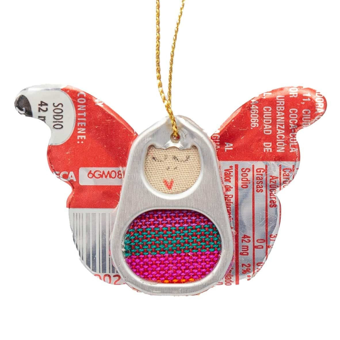 Recycled Can & Tab Angel Ornament