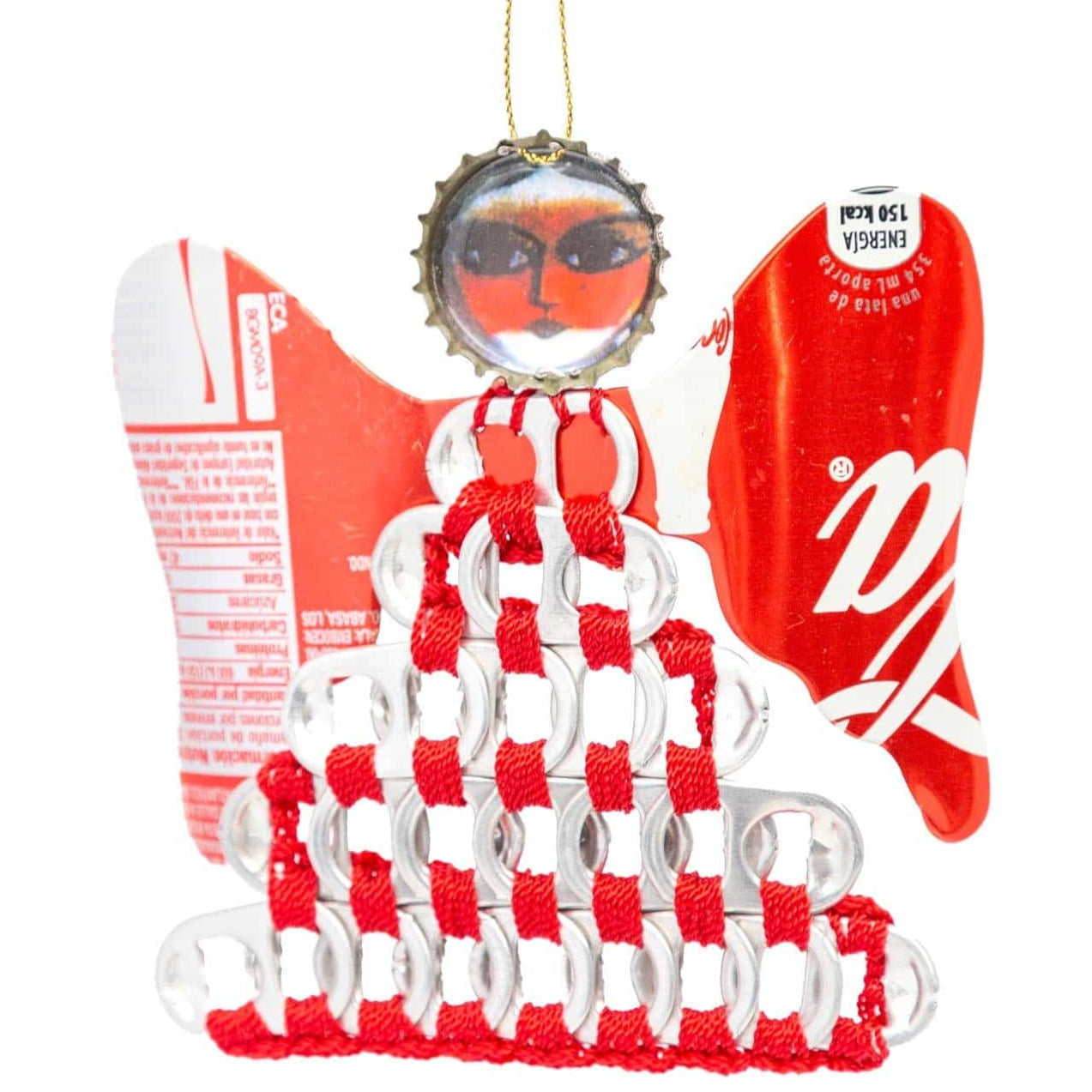 Soda Can Angel Ornament