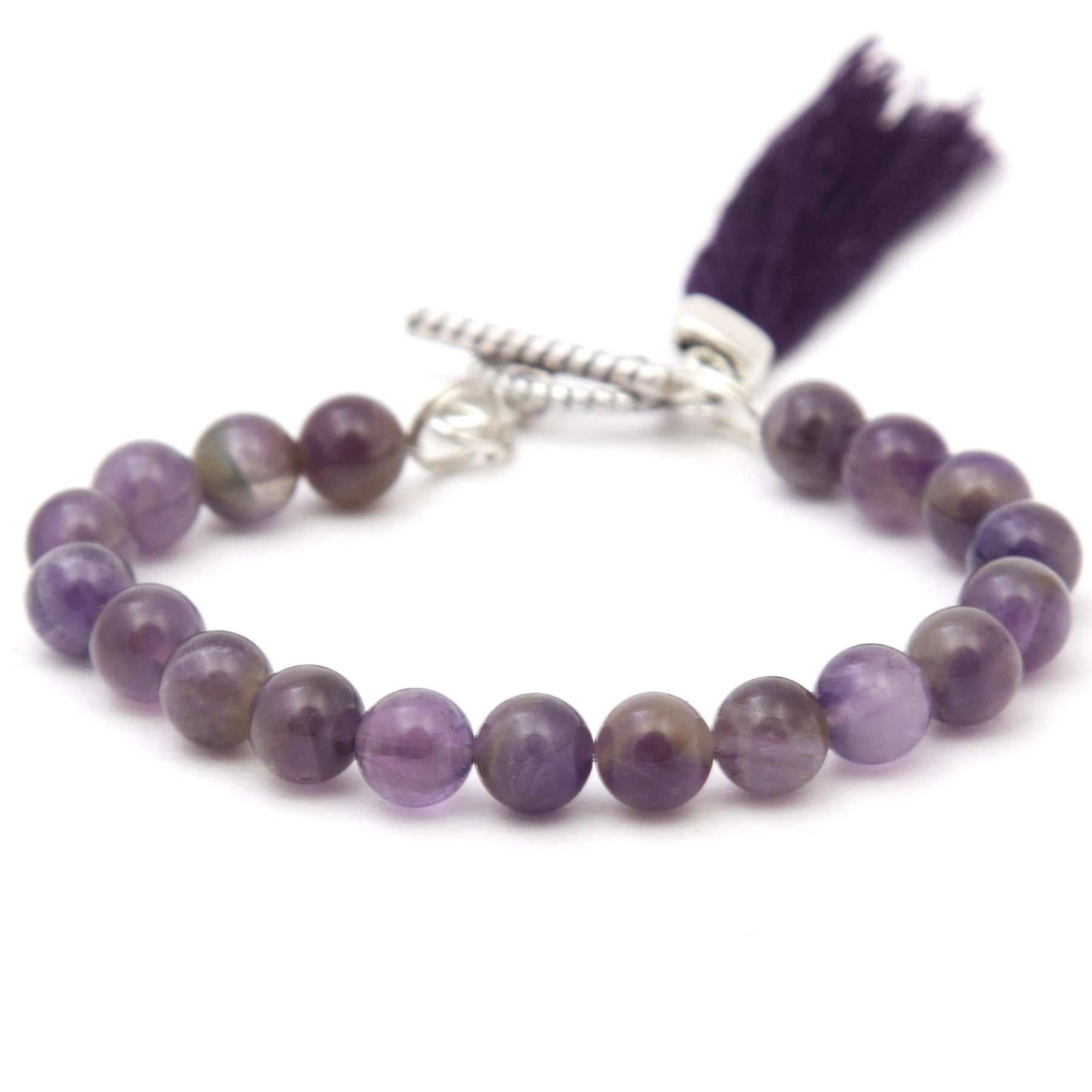 Round Beaded Bracelet - Purple