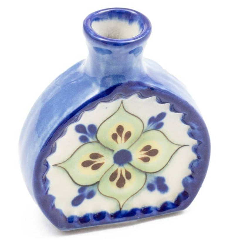 San Antonio Palopo Ceramics Vase Blue and Green