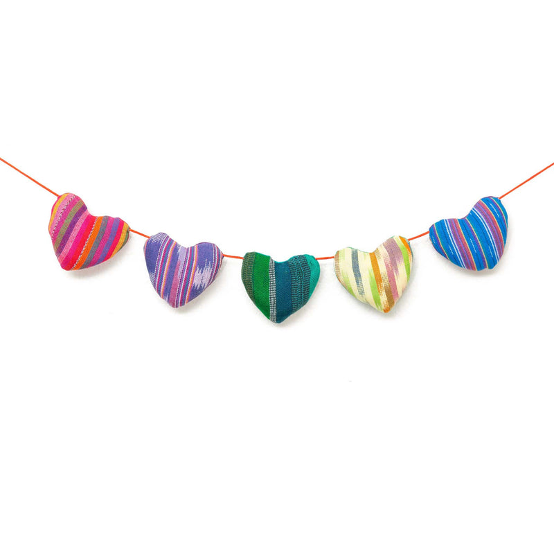 String of Hearts Garland