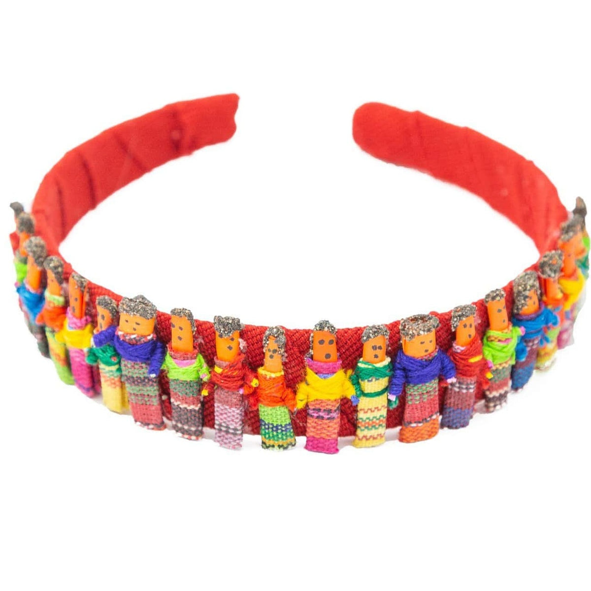 Fair Trade Worry Doll Headband Red