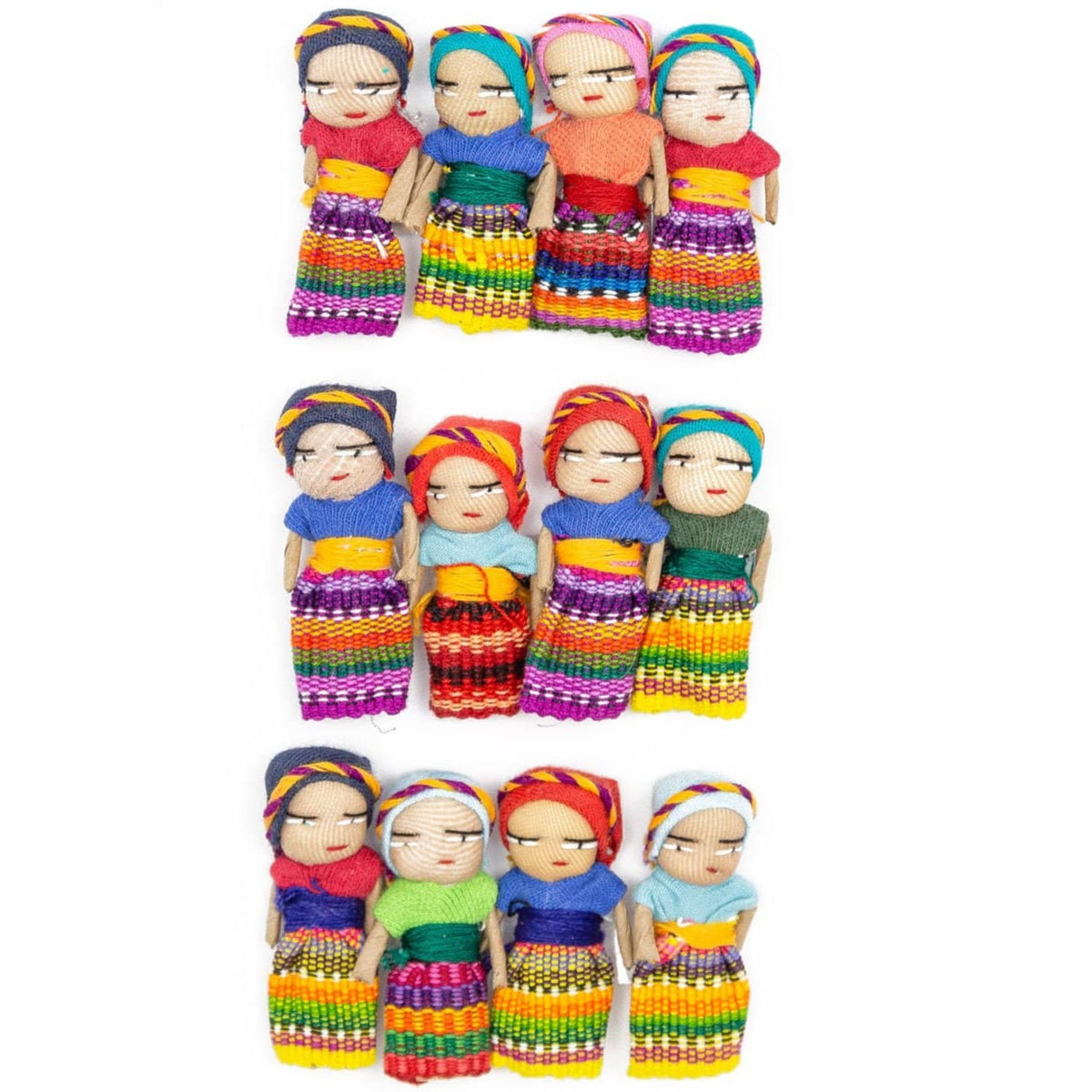 Guatemalan Worry Dolls - Set of 12
