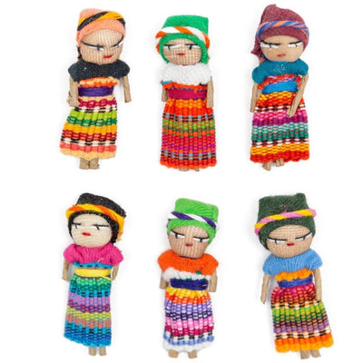 Fair Trade Guatemalan Worry Dolls Set of Six