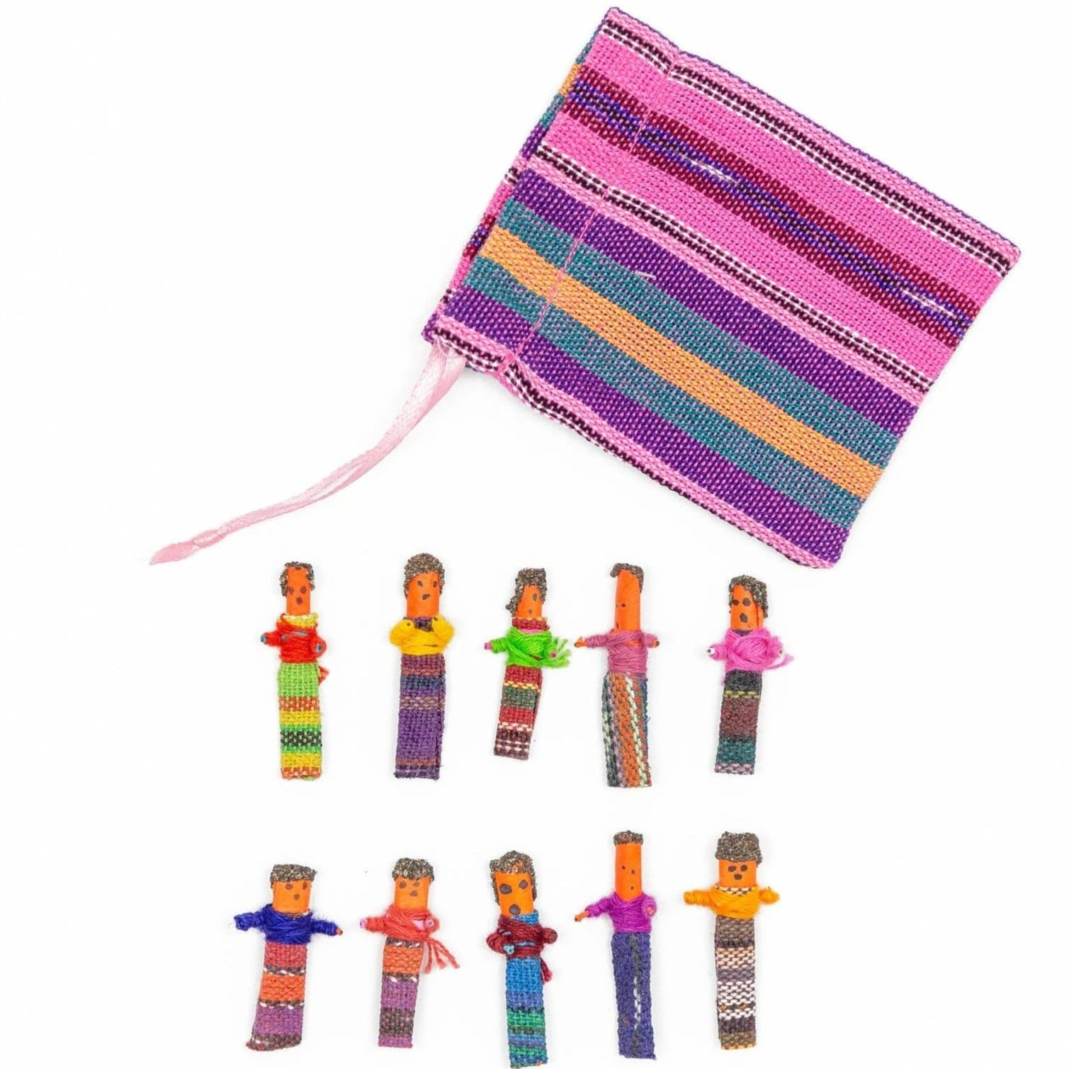 Fair Trade Worry Dolls with Pouch