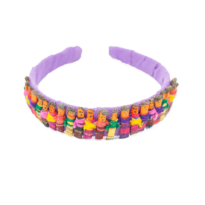 Fair Trade Worry Doll Headband Pink