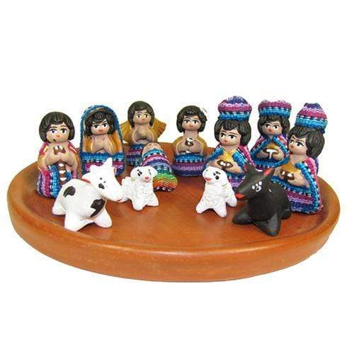 Colorful Terracotta Nativity