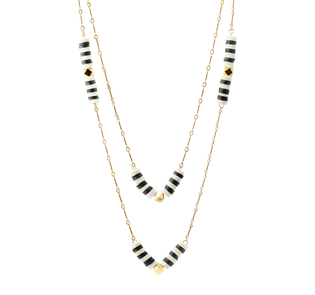Striped double chain