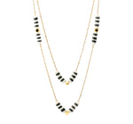 Striped Double Chain | Neon Collection | Handmade Fashion Jewelry | Wholesale | Marli and Lenny