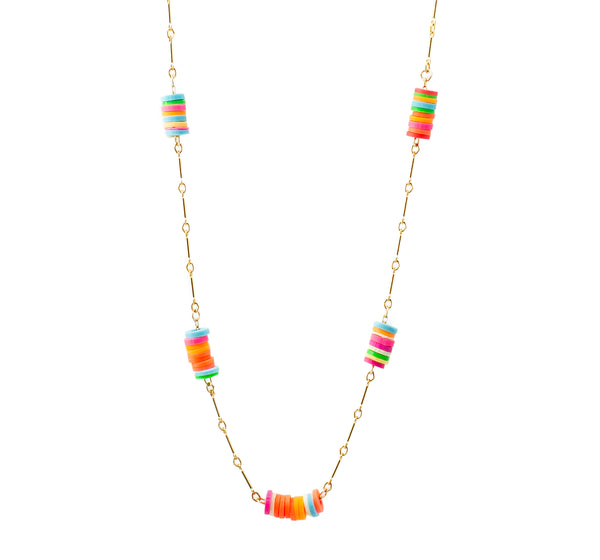 Short Colored Neon Chain | Neon Collection | Handmade Fashion Jewelry | Wholesale | Marli and Lenny