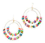 Multicolored Double  Hoops
