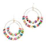 Striped Double Hoops | Multicolored | Neon Collection | Handmade Fashion Jewelry | Wholesale | Marli and Lenny